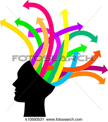 Clipart of Thoughts and options k10593531.