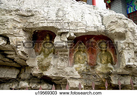 Stock Photo of China, Shandong, Jinan County, Thousand Buddha.