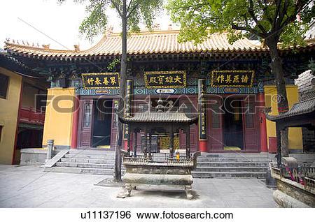 Stock Images of China, Shandong, Jinan County, Thousand Buddha.