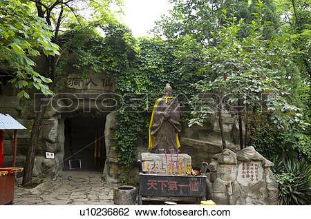 Stock Photo of China, Shandong, Jinan County, Thousand Buddha.