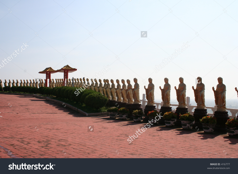 Thousand Buddha Statues At Buddha.