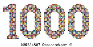 One thousand Clip Art EPS Images. 164 one thousand clipart vector.