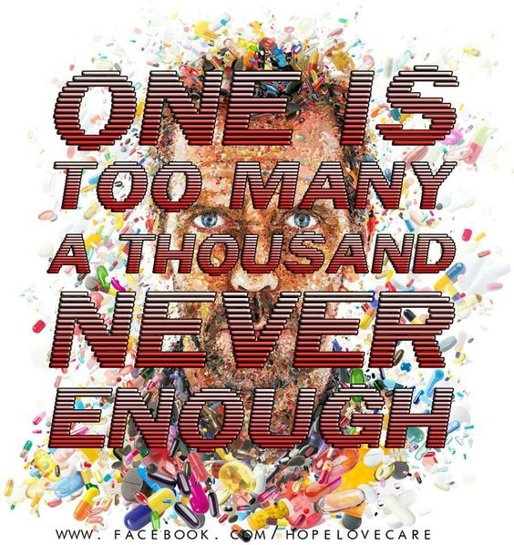 One is too many, a thousand is never enough.