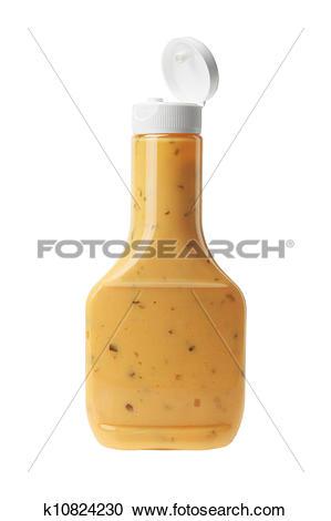 Stock Photography of Bottle of Thousand Island Salad Dressing.