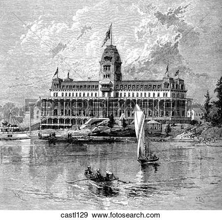 Stock Illustration of The Thousand Island House, New York castl129.