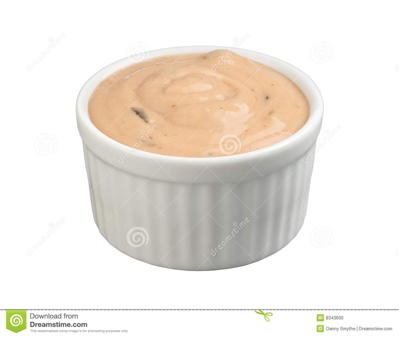 Thousand Island Salad Dressing (with Clipping Path Stock Photo.
