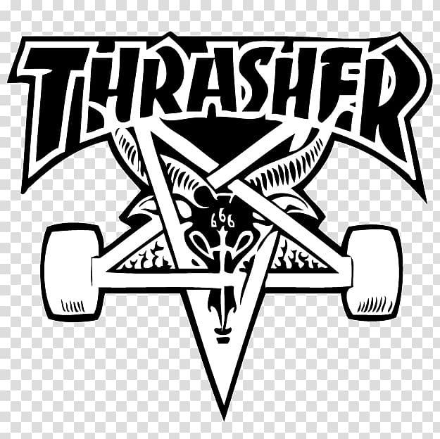 Thrasher logo, Thrasher Skateboarding Hoodie Sticker.