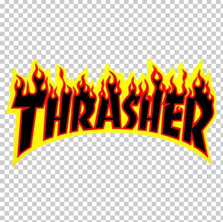 Thrasher Sticker Skateboarding Decal PNG, Clipart, Brand.