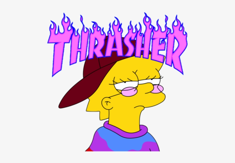 Thrasher Blue Flame Logo Transparent PNG.