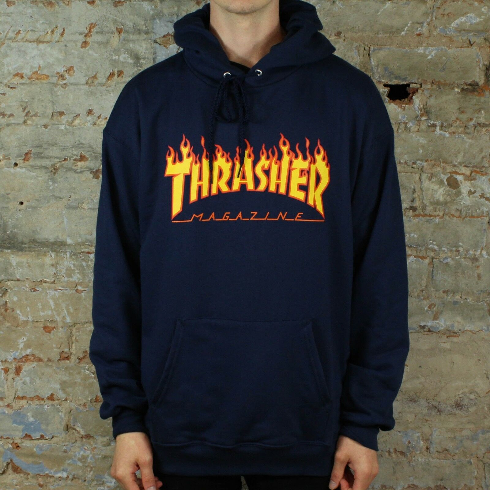 Details about Thrasher Flame Logo Pullover Hooded Sweatshirt.