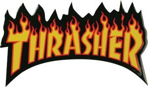 Thrasher Flame Logo Sm Decal Single Assorted Colors.