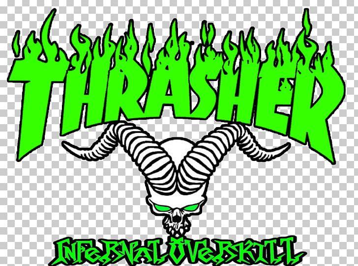 Thrasher Logo Magazine Skateboarding PNG, Clipart, Area.