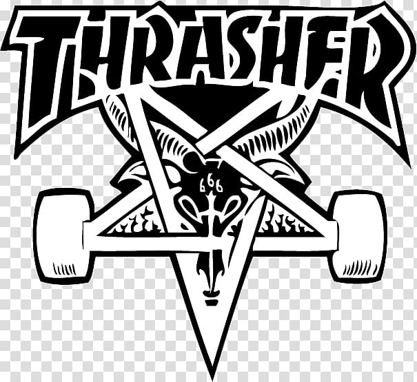 Thrasher transparent background PNG cliparts free download.