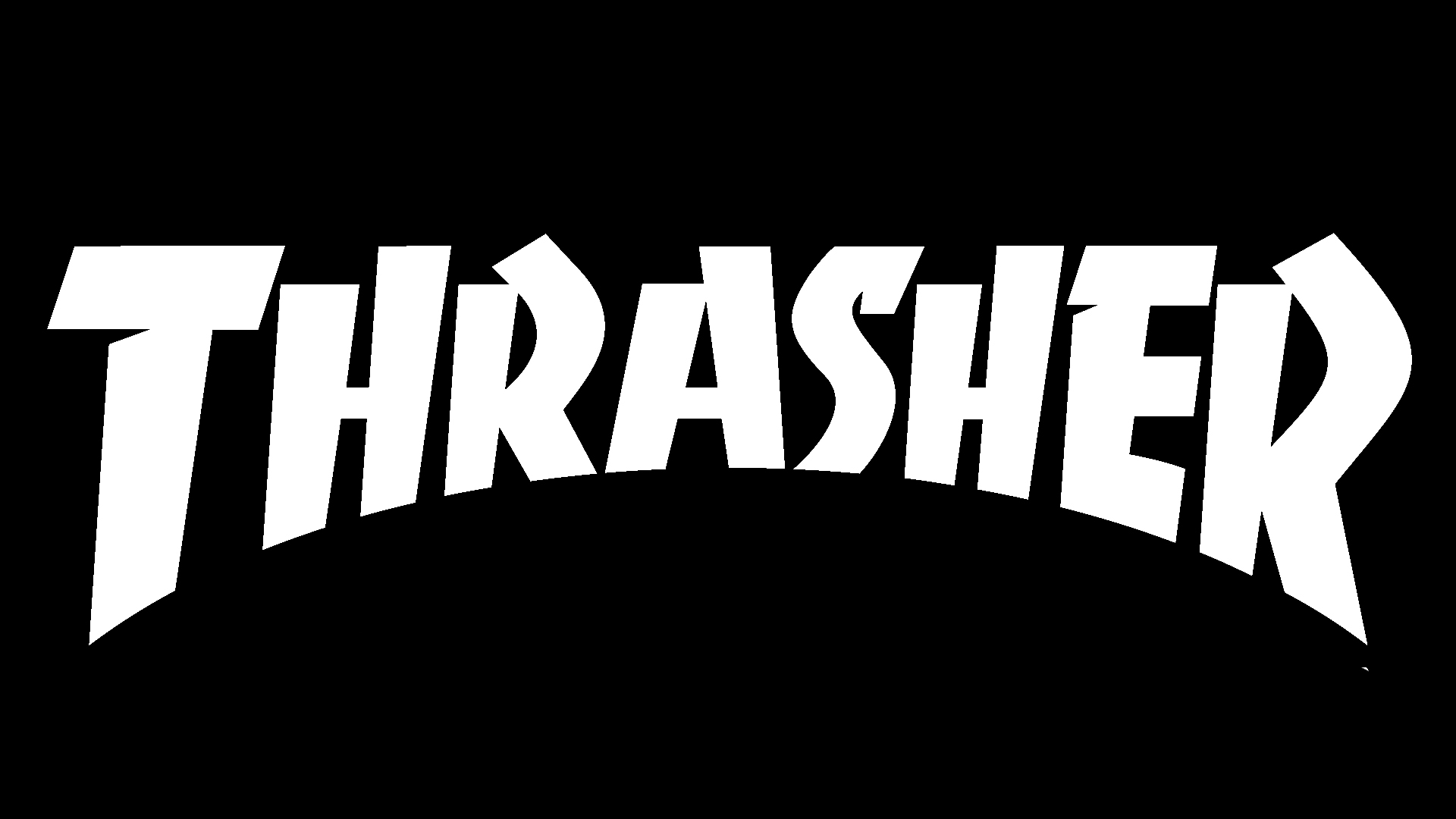 Meaning Thrasher logo and symbol.