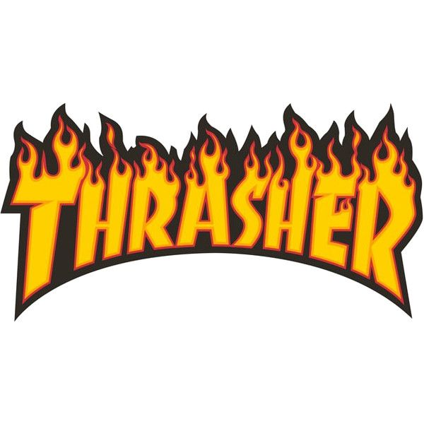 Thrasher flame font Forum ❤ liked on Polyvore featuring.