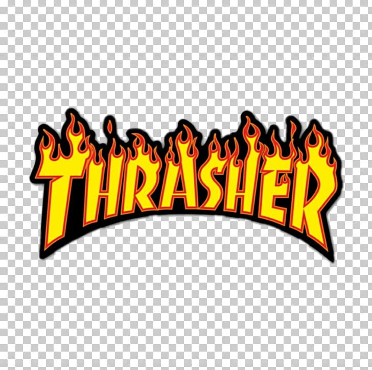 Thrasher Logo Sticker Brand Sign PNG, Clipart, Area, Area M.