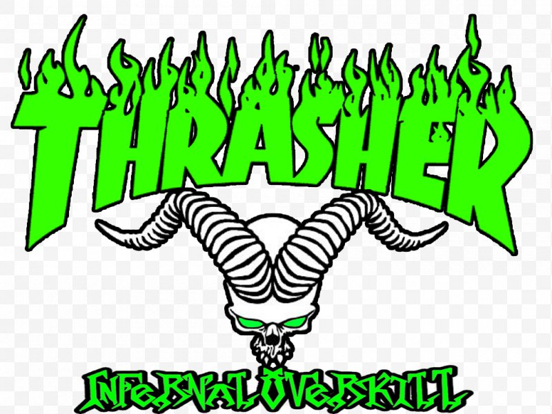 Thrasher Logo Magazine Skateboarding Wallpaper, PNG.