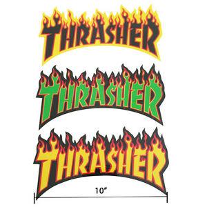 Details about Thrasher Magazine Flame Fire Logo Sticker 10\