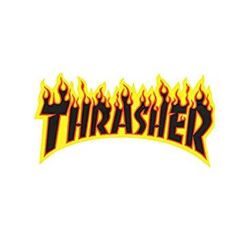 Thrasher Skateboard Magazine Sticker Flame Logo Large (Ramp) 5\