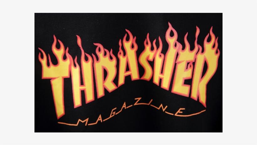 Thrasher Magazine Fire Hooded Sweater.