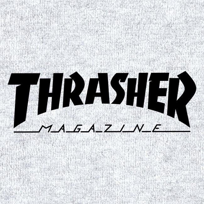 Magazine Logo Zip Hood (Heather Gray).