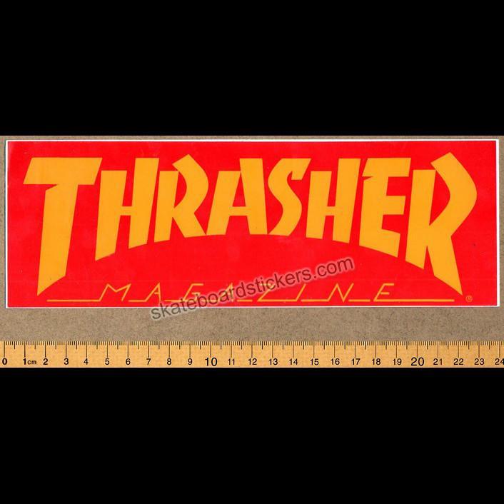 Thrasher Magazine Logo Old School Skateboard Sticker.