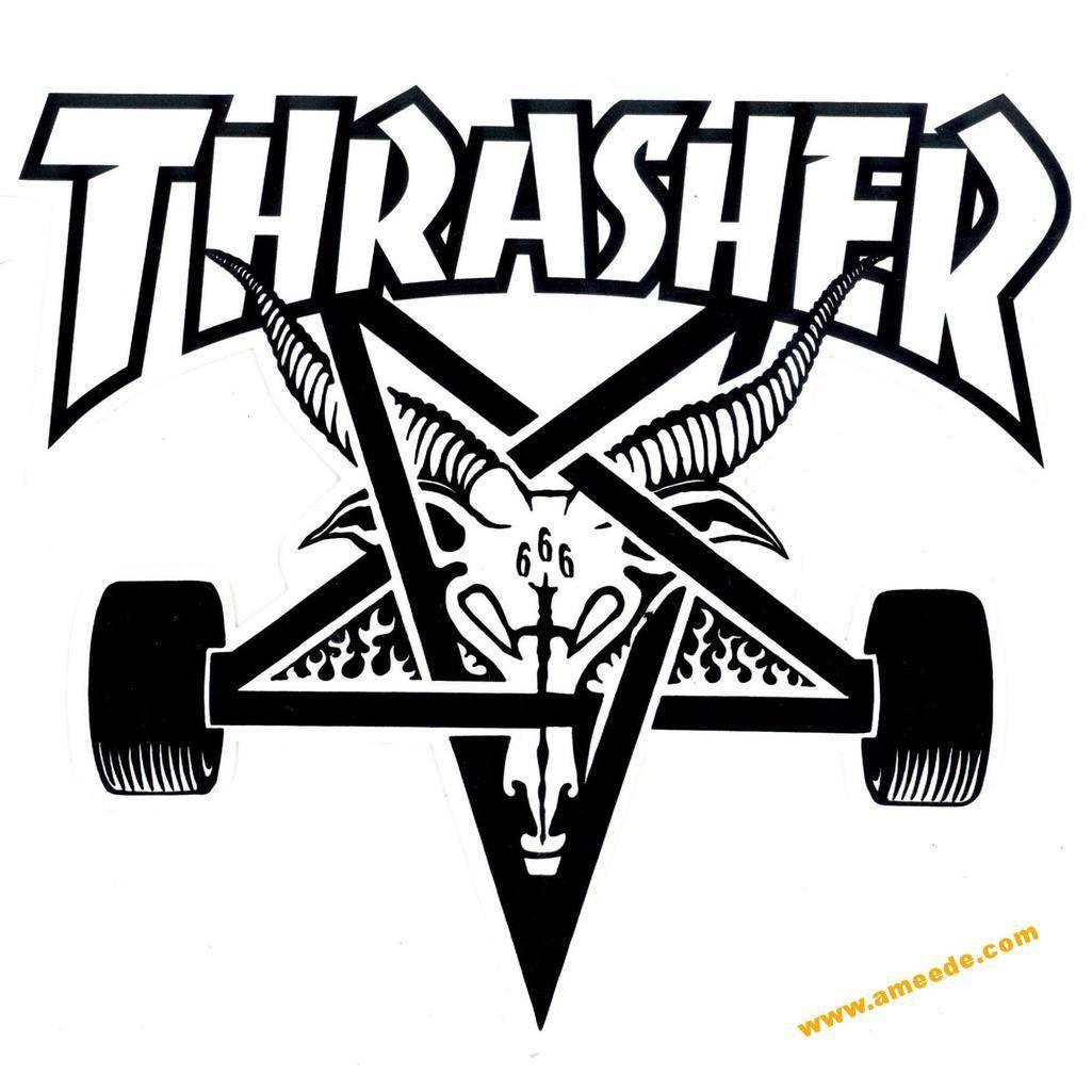 Thrasher logo dxf file in 2019.
