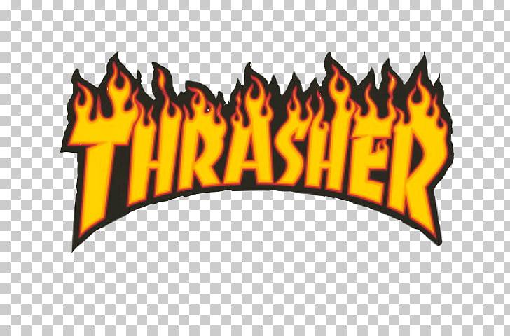Thrasher Skateboarding Magazine Grip tape, skateboard.