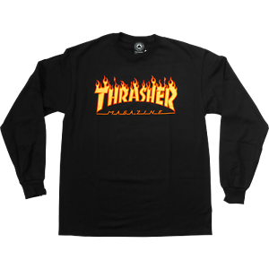 Details about Thrasher Magazine Flame Long Sleeve T.