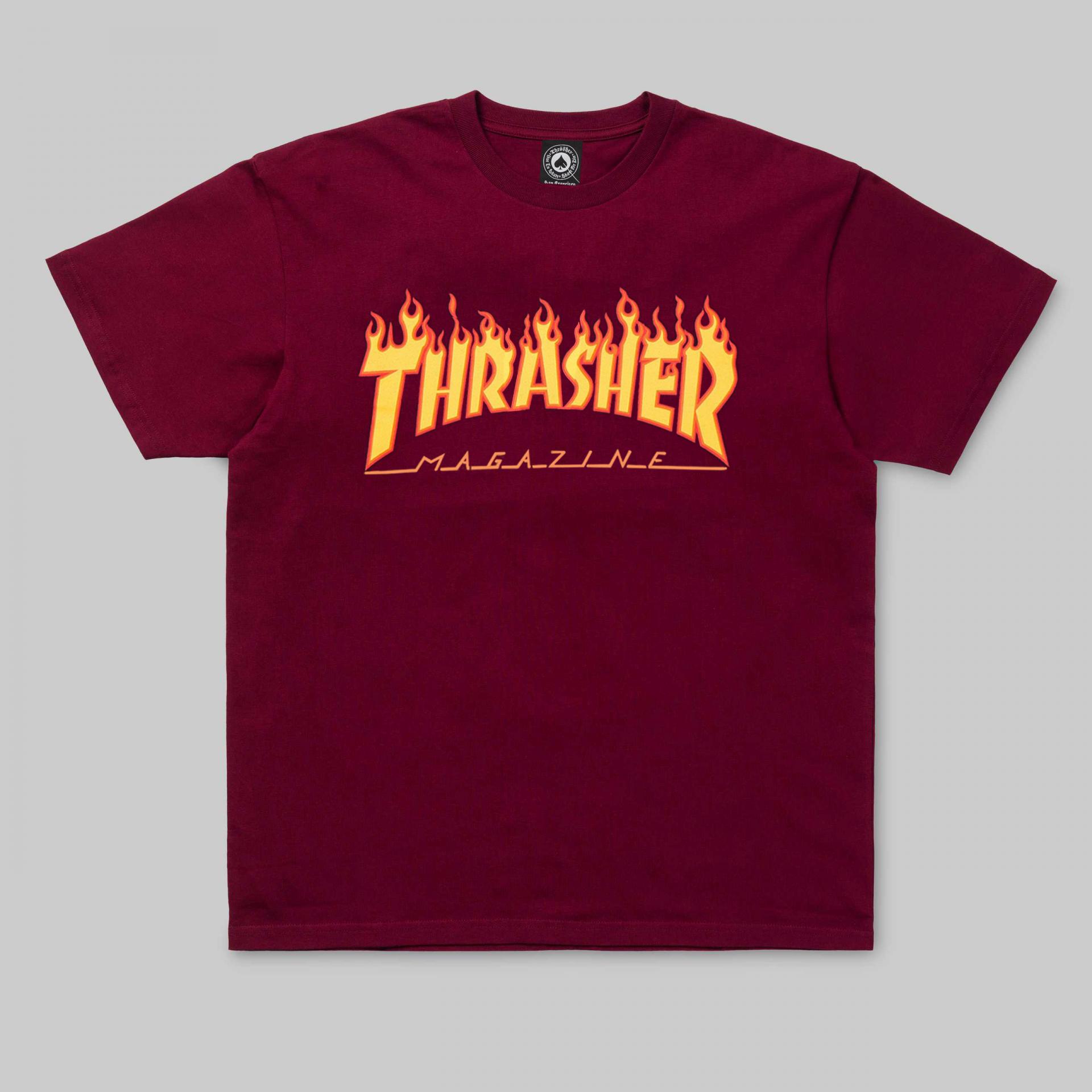 THRASHER FLAME LOGO T.