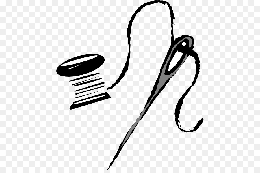 Sewing Needle Black png download.