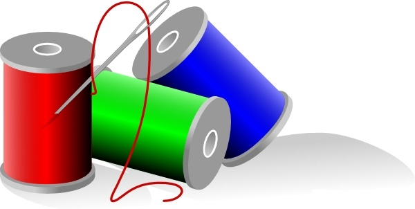 Thread Rolls clip art Free vector in Open office drawing svg.