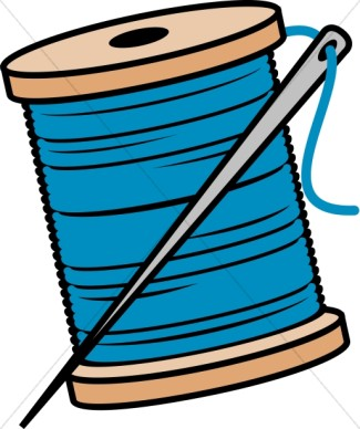 Needle thread clipart.