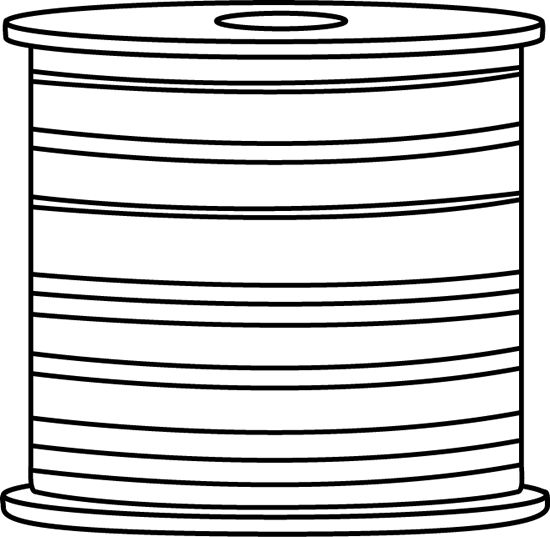 Black and White Spool of Thread.
