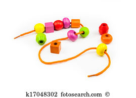 Threading beads clipart.