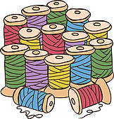 Clipart of Illustration of colored threads k11299870.