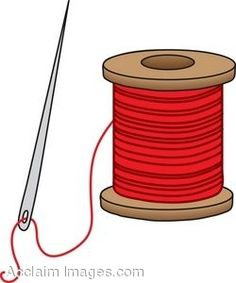 Sewing thread clipart.