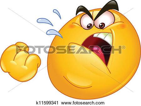 Clipart of Threatening emoticon k11599341.