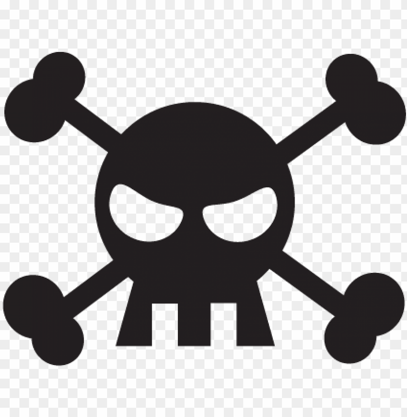 cartoon skull amp crossbones wall wall art decal.