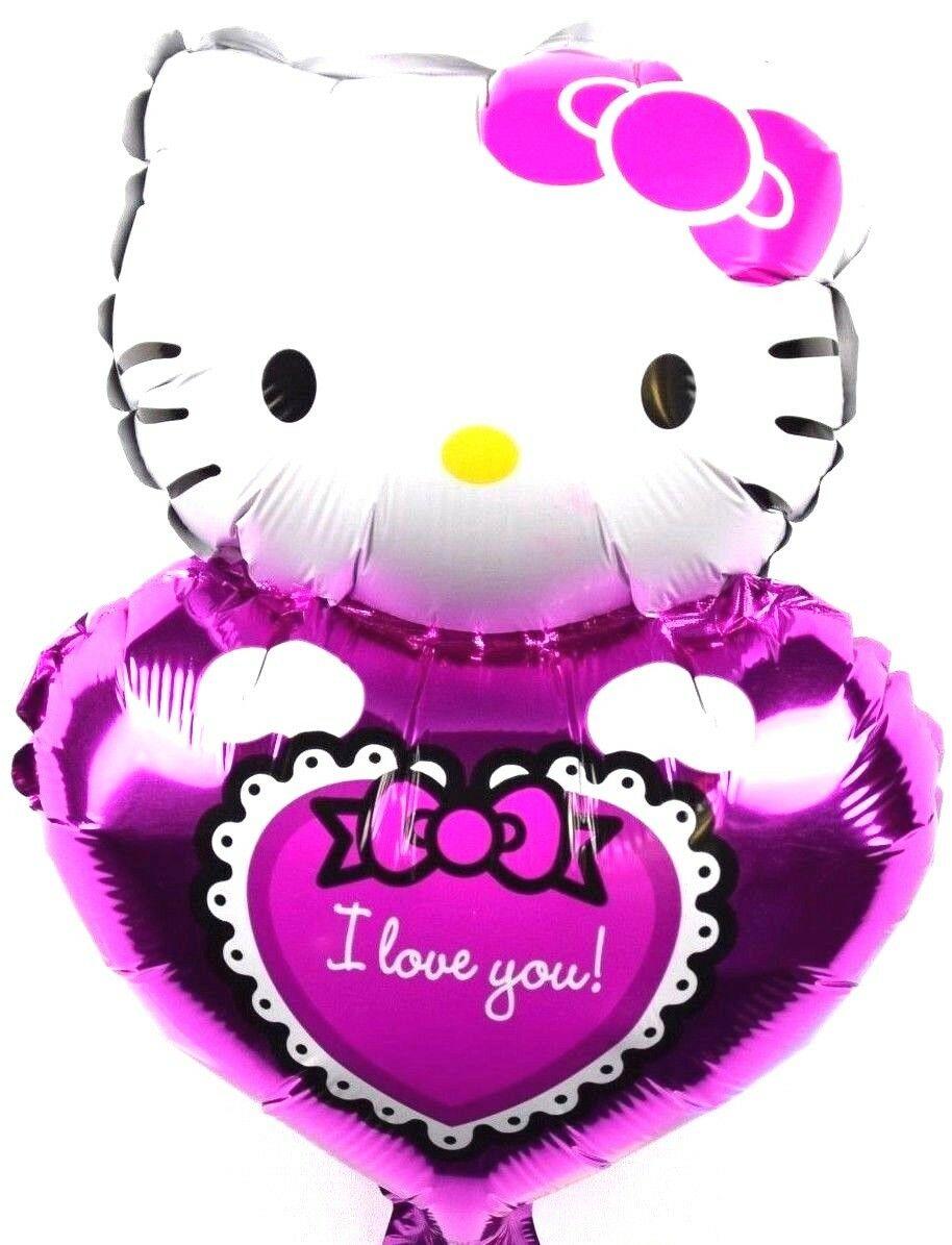3x R13F1 no Globo de Helio Foil Hello Kitty Día De San.