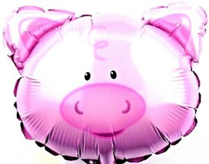 Details about 3 x R14f1 not Helium Balloon Foil Balloons Sow Party Pig Face  Viel Glück.