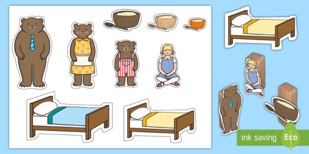 Goldilocks and the Three Bears Small World Characters.