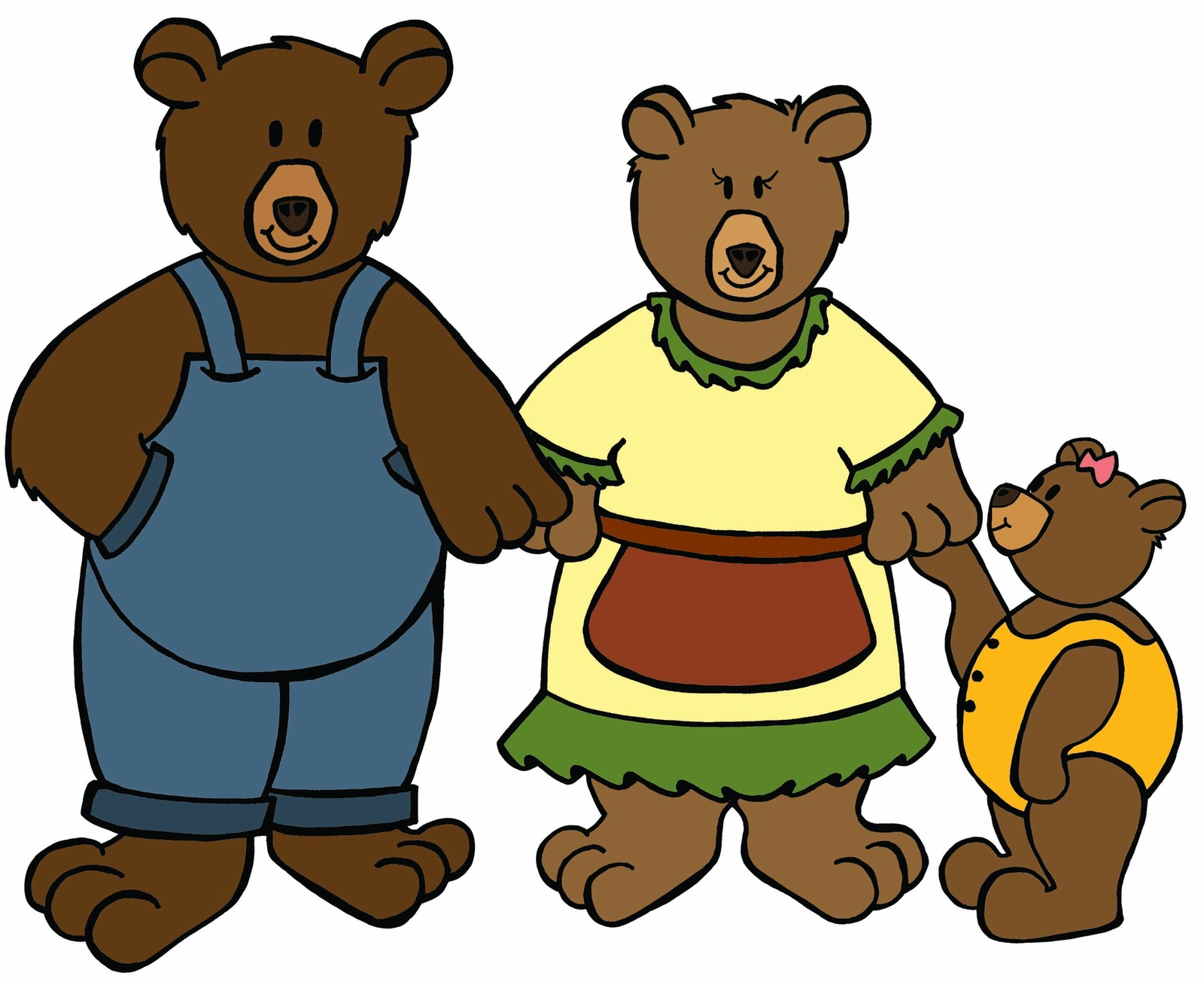 Goldilocks And The Three Bears Clip Art.