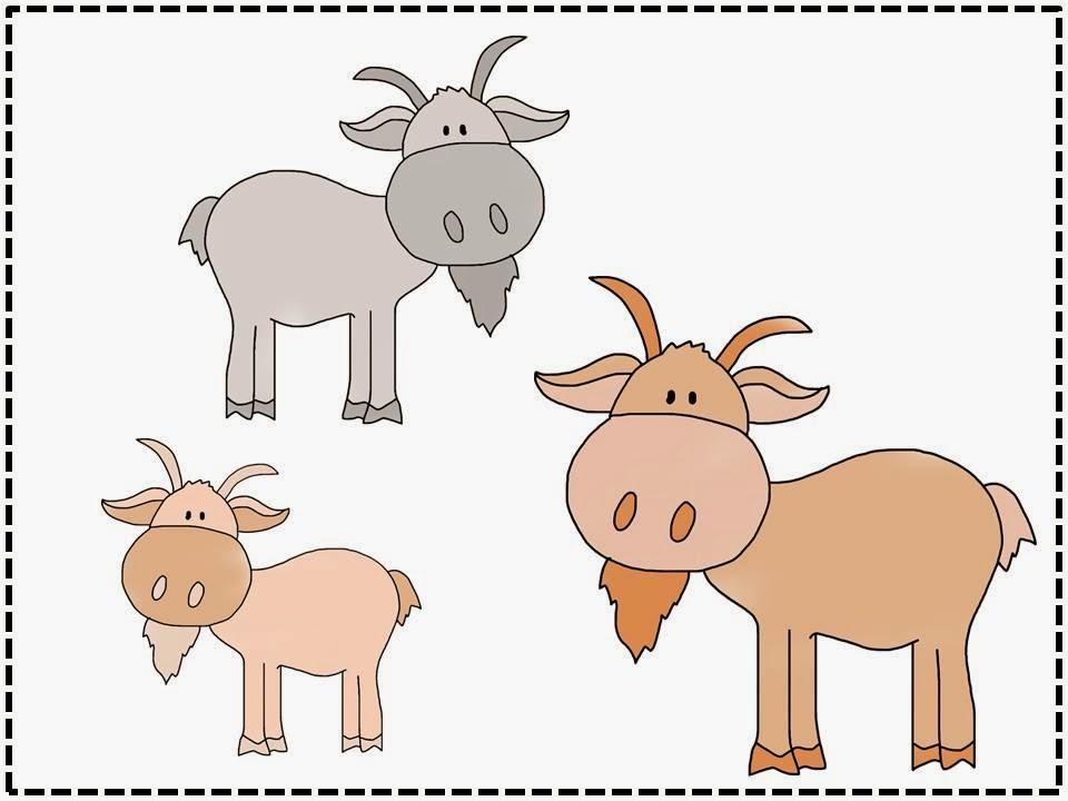 3 Billy Goats Gruff Clipart.