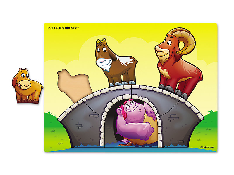 Three Billy Goats Gruff Puzzle.