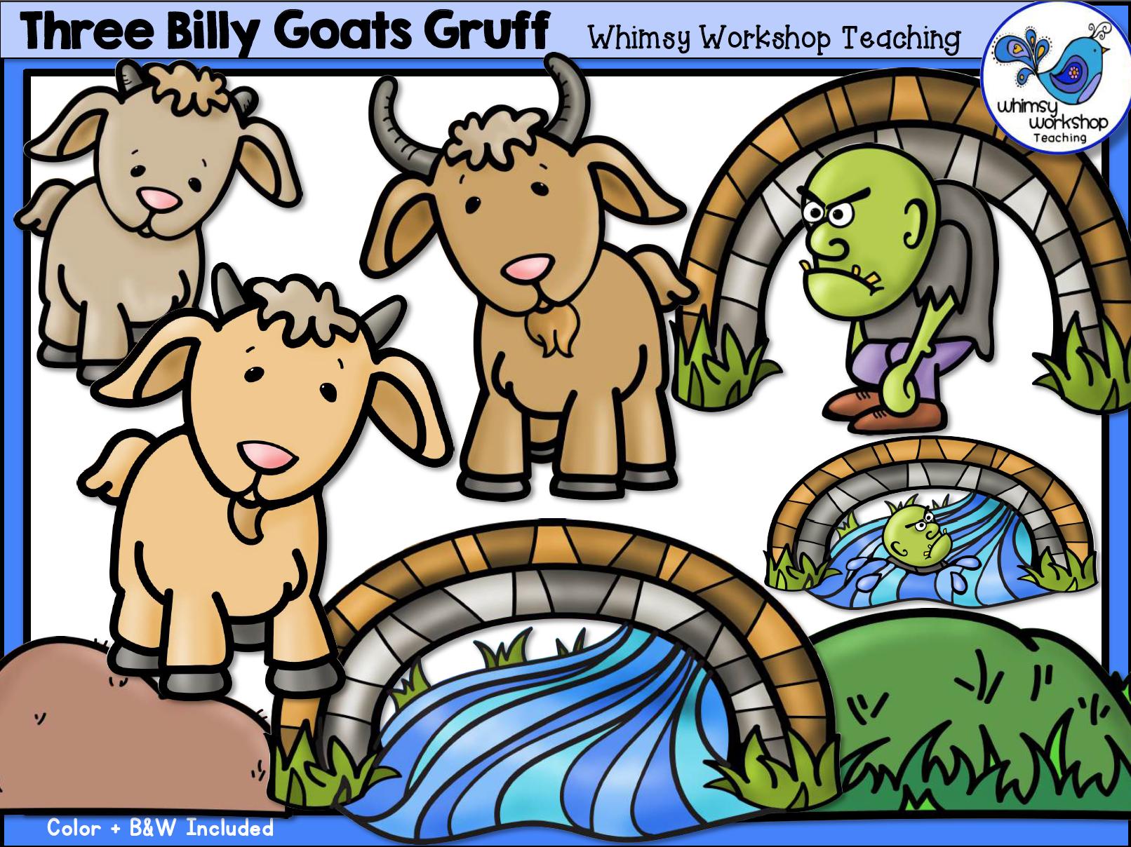 Three Billy Goats Gruff Clip Art.