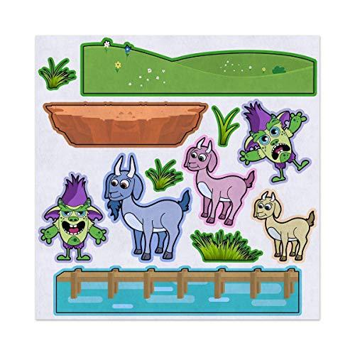 Amazon.com: 3 Billy Goats Gruff Troll Bridge Felt Play Art.