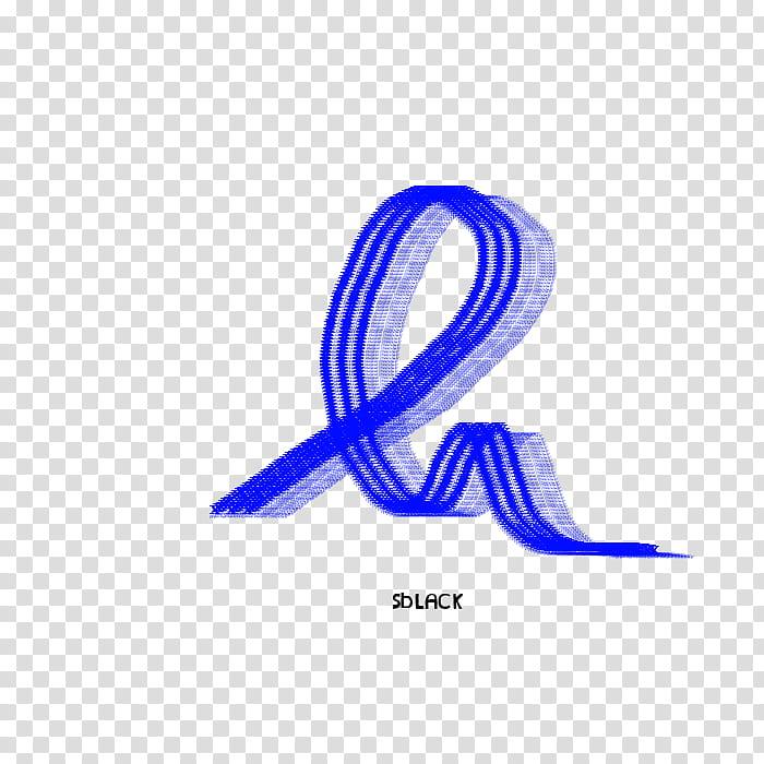Materials, three blue lines scribble illustration.