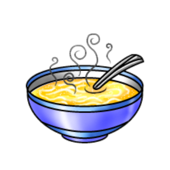 Image result for chicken noodle soup clipart.