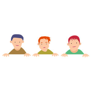 Three Boys clipart, cliparts of Three Boys free download.